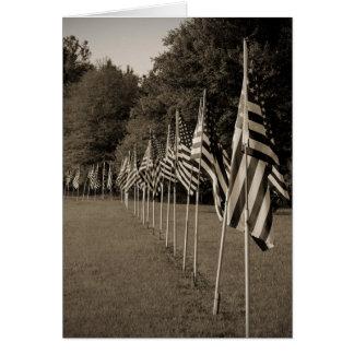 American Veteran Flags Card