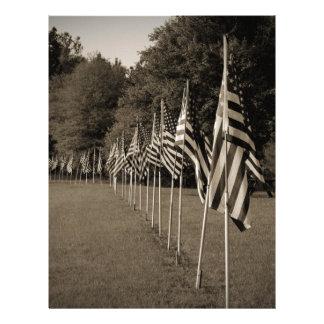 American Veteran Flags Letterhead