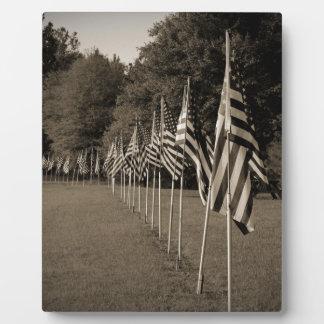 American Veteran Flags Photo Plaques