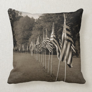 American Veteran Flags Throw Pillow