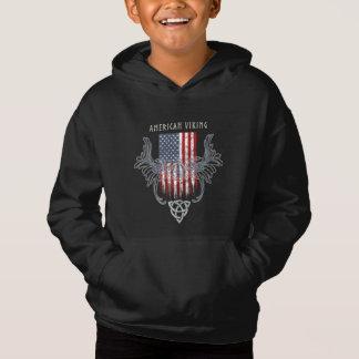 American Viking. Flag, Distressed, Celtic Helmet