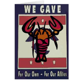 American  Vintage Lobster Crayfish Card