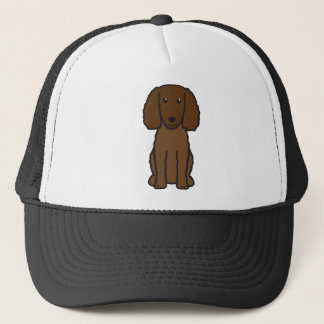 American Water Spaniel Dog Cartoon Trucker Hat
