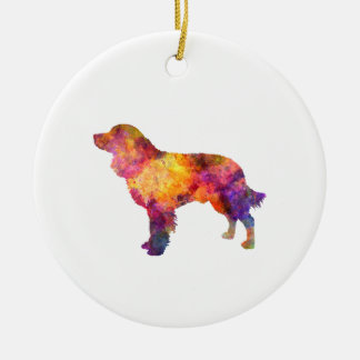 American Water Spaniel in watercolor Ceramic Ornament
