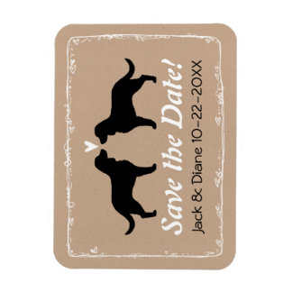 American Water Spaniels Wedding Save the Date Magnet
