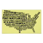 American Welsh Place Names Poster