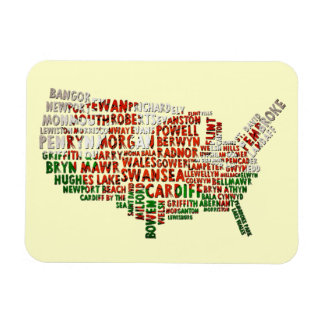 American Welsh Red Dragon Map Flexi Magnet