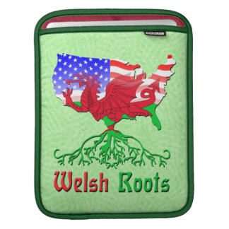 American Welsh Roots iPad Mac Sleeve