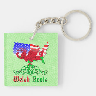 American Welsh Roots Keyring