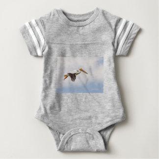 American White Pelican Cruising Baby Bodysuit