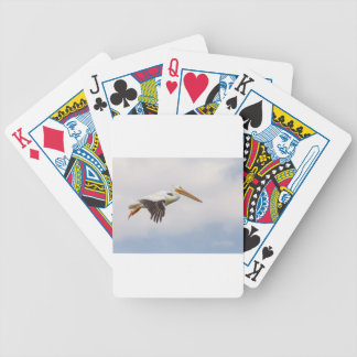 American White Pelican Cruising Bicycle Playing Cards