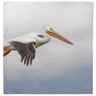 American White Pelican Cruising Napkin