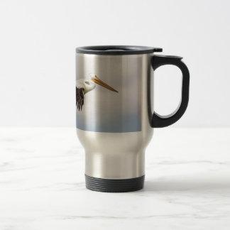 American White Pelican Cruising Travel Mug