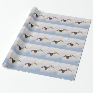 American White Pelican Cruising Wrapping Paper