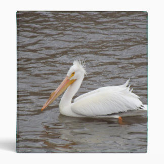 American White Pelican In Breeding Condition 3 Ring Binders
