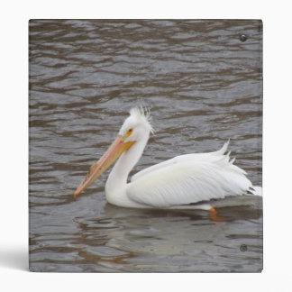 American White Pelican In Breeding Condition Vinyl Binders
