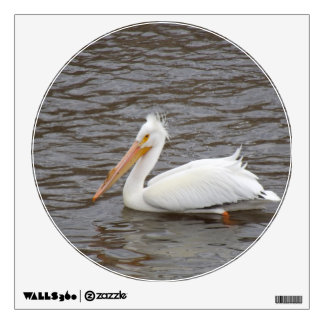 American White Pelican In Breeding Condition Wall Decal