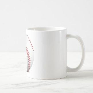 American White Single Baseball Basic White Mug