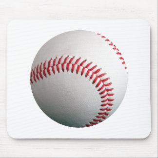 American White Single Baseball Mouse Pad