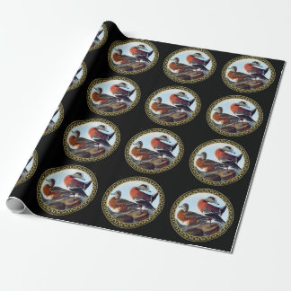 American Widgeon ducks on a rock Wrapping Paper