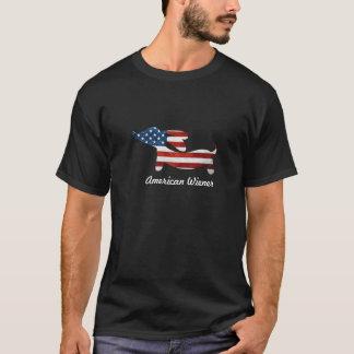American Wiener | Dachshund + American Flag T-Shirt