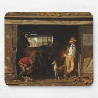 American Wild West Blacksmith and Cowboy Mouse Pad