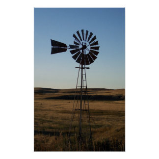 American Windmill Poster