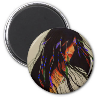 American Woman 2 Inch Round Magnet