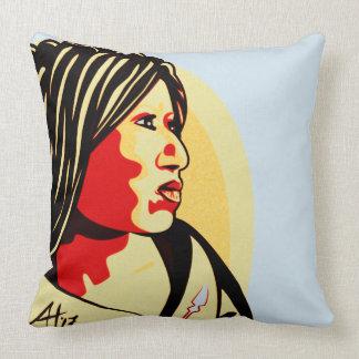 """American Woman"" by Aleta Throw Pillow"