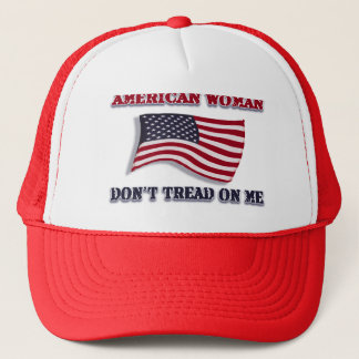 American Woman Don't Tread On Me Trucker Hat
