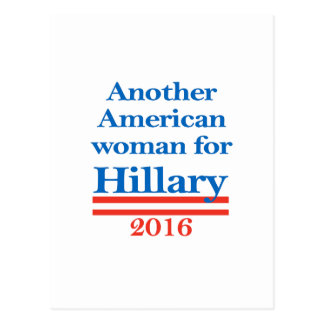 American Woman for Hillary Clinton Postcard