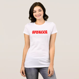 """""""American Woman"""" Red Bold Type T-Shirt"""