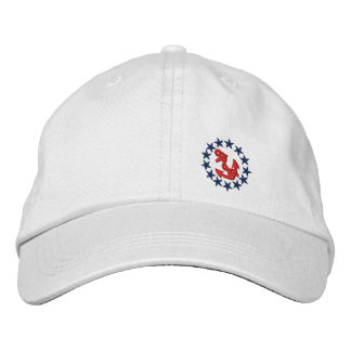 American Yacht Flag Ensign Nautical Embroidery Embroidered Hat