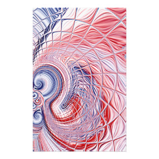 Americana Abstract Swirl Full Color Stationery