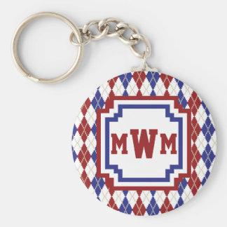 Americana Argyle Keychain