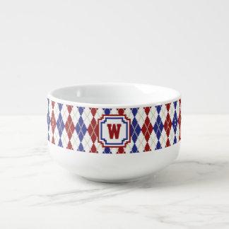 Americana Argyle Soup Mug