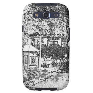 Americana Black and White Small Town Square Samsung Galaxy S3 Cases