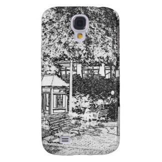 Americana Black and White Small Town Square Samsung Galaxy S4 Cases