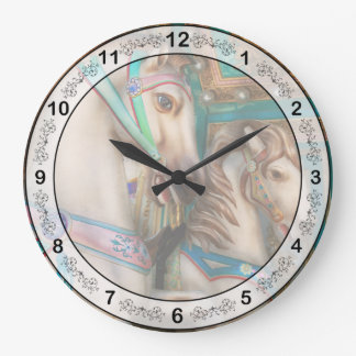 Americana - Carousel beauties Large Clock