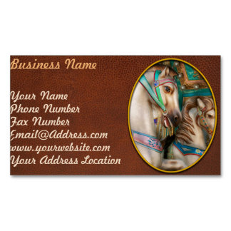 Americana - Carousel beauties Magnetic Business Card