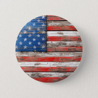 Americana Flag 2 Inch Round Button