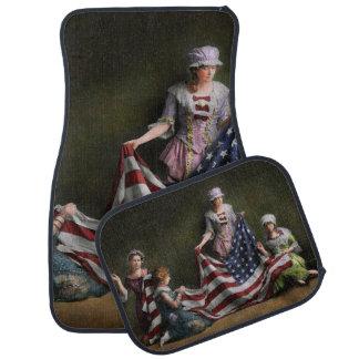 Americana - Flag - Birth of the American Flag 1915 Car Mat