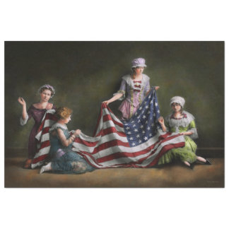 Americana - Flag - Birth of the American Flag 1915 Tissue Paper