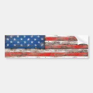 Americana Flag Bumper Sticker