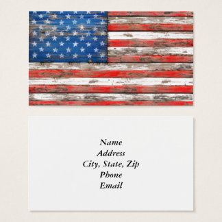 Americana Flag Business Card