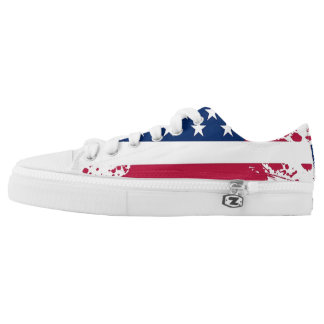 Americana Flag Design Low-Top Sneakers