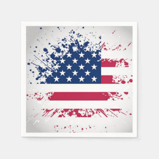 Americana Flag Design Napkins for summer parties Paper Napkins
