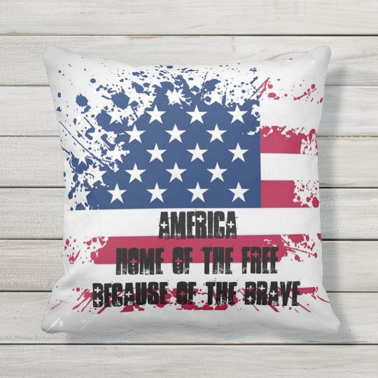 Americana Flag Outdoor Pillow