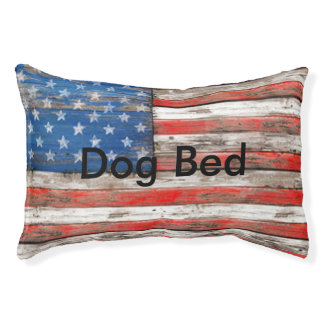 Americana Flag Pet Bed