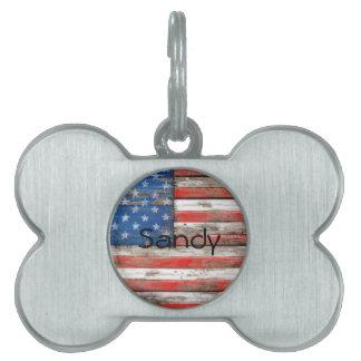 Americana Flag Pet Tag